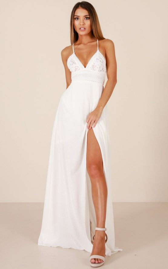 Running Free Maxi Dress in White