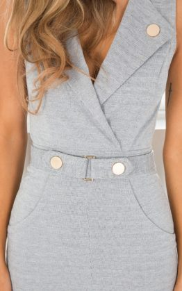 Game Changer Dress in Grey