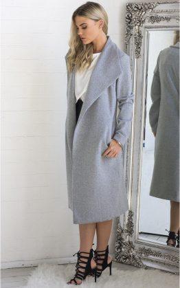 New York Coat in Grey