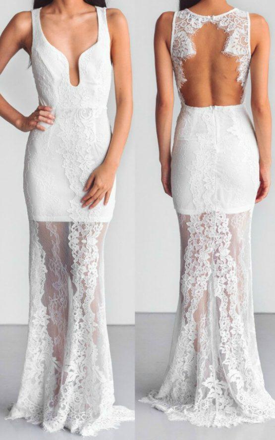 Inner Light Maxi Dress in White