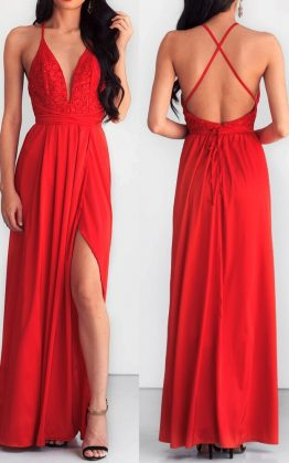 Star Of The Show Maxi Dress in Red