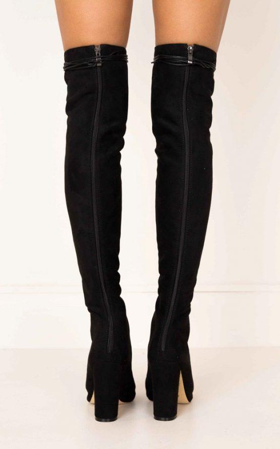 Billini - Bardot in Black Suede