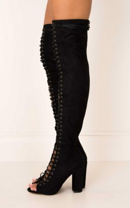 Billini - Bardot in Black Suede