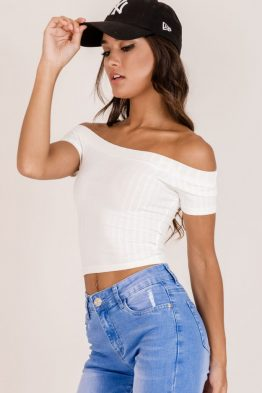 3efa35000d78b Azalea Bustier Crop in White - All Your Fashion Musthaves