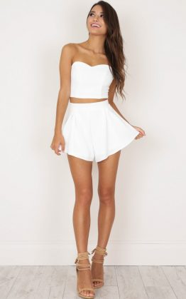 Dion Two Piece Set in White