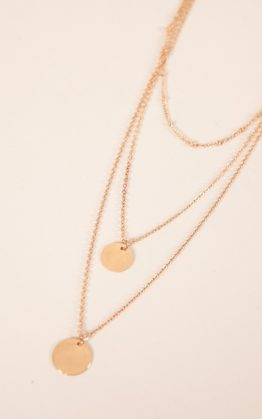 Stay The Same Necklace in Gold