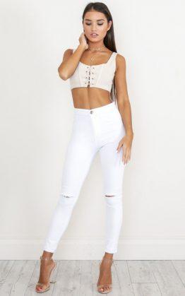 Bella Skinny Jeans in White