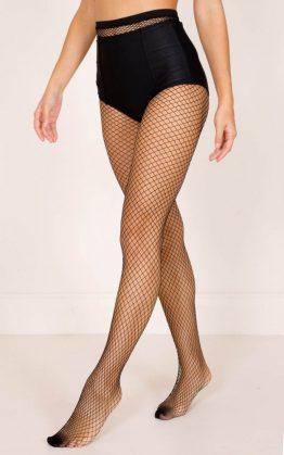 Formation Fishnet Stockings in Black