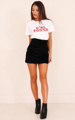 All My Secrets Skirt in Black