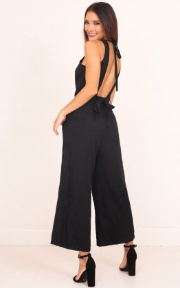 Sweet Secrets Jumpsuit in Black