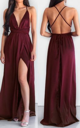 The Way I Love You Maxi Dress in Wine