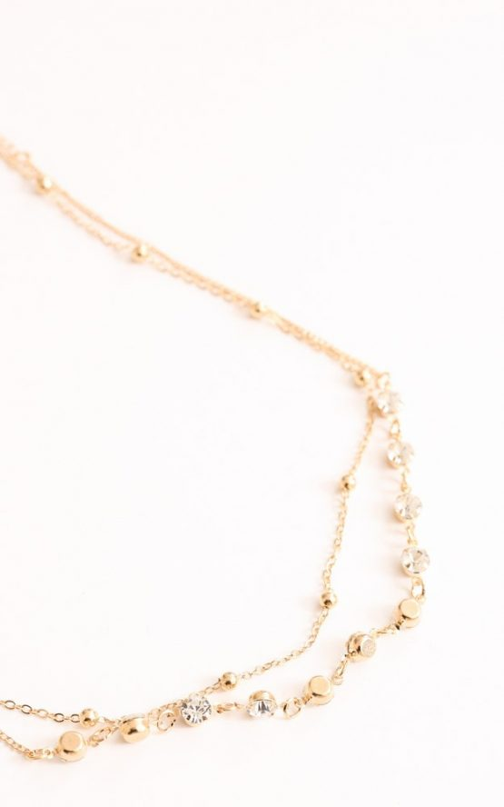 Spend My Life Choker in Gold