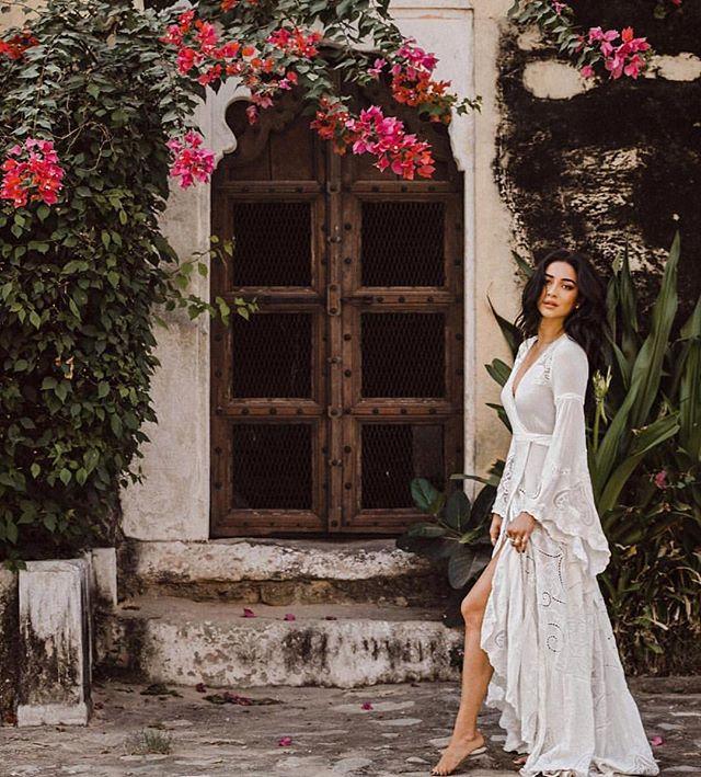 Shay Mitchell - The Gwendolyn Wrap Gown