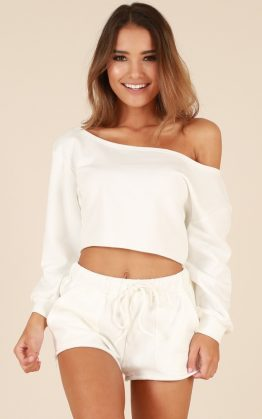 Dreamers Top In White & Cloud Nine Shorts In White