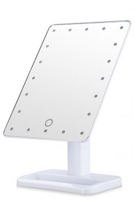 Portable LED Makeup Mirror In White