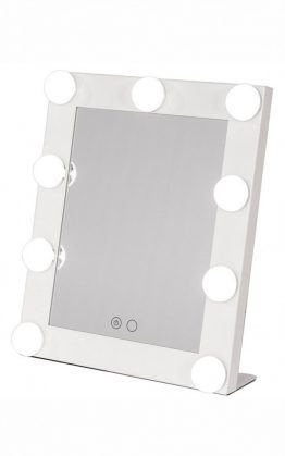 Glamour Hollywood Makeup Mirror In White