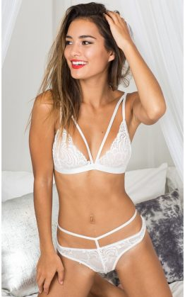 Wild Obsession Bralette Set In White Lace