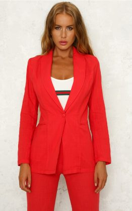 Walk The Other Way Blazer in Red