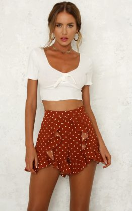 Closing Time Crop Top in White