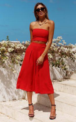 Grown Woman Crop Top in Red