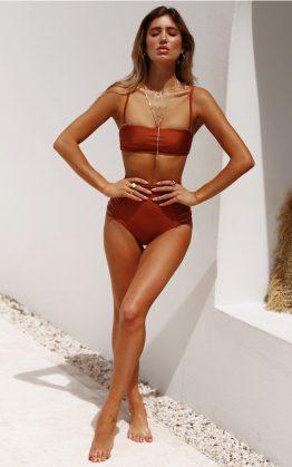 NOOKIE Paradise Bandeau Bikini Top in Orange
