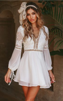 You Make It Easy Dress in White