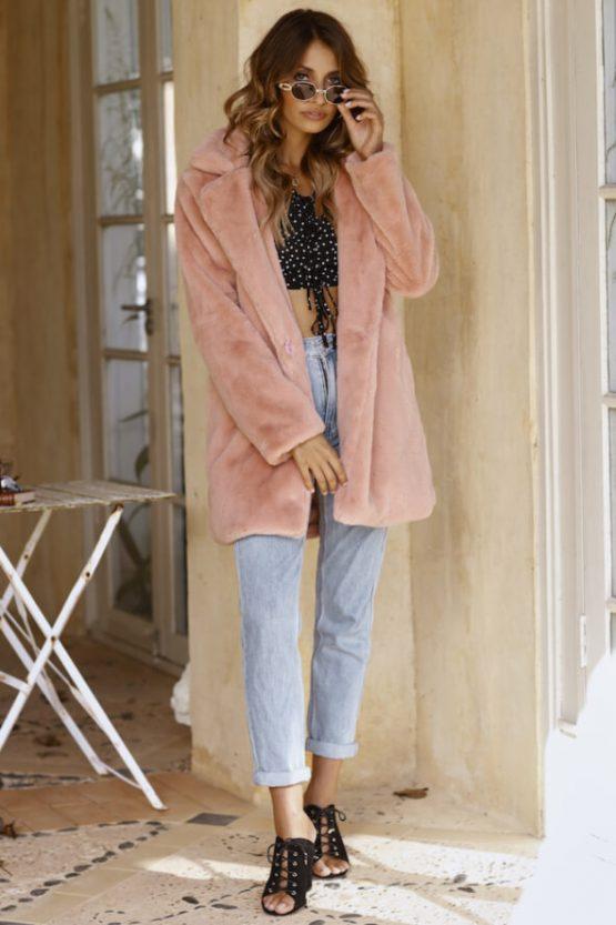 Puffy Coat in Blush