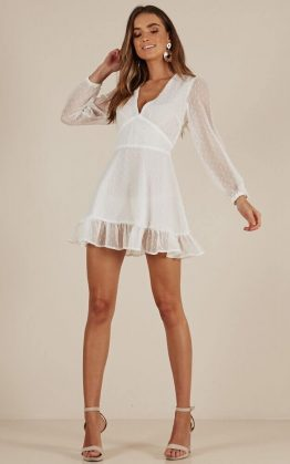 Classic Crush Dress In White