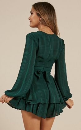 On Rotation Playsuit In Green