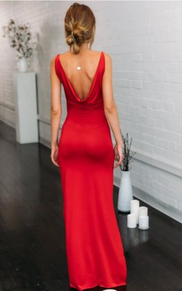 Bullseye Maxi Dress in Red