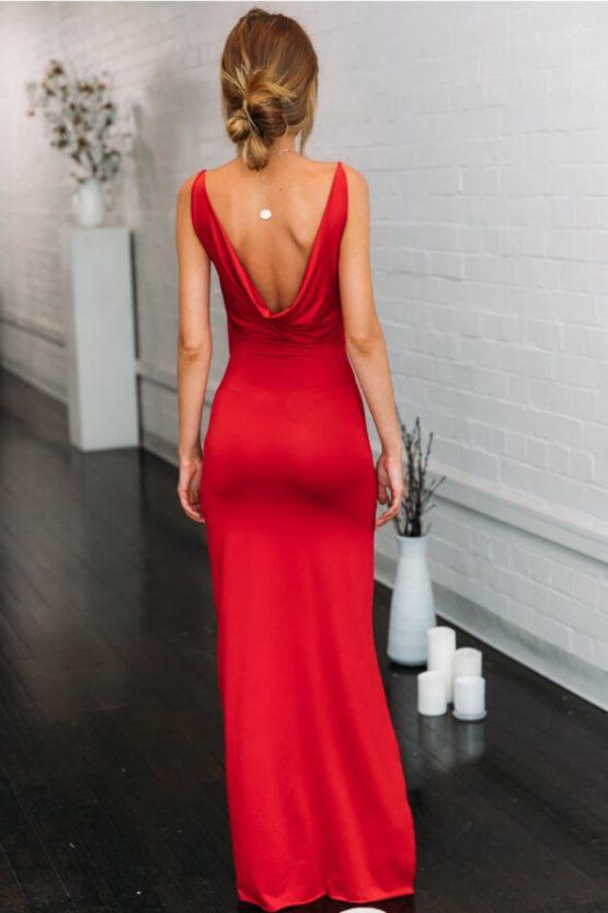 Bullseye Maxi Dress in Red