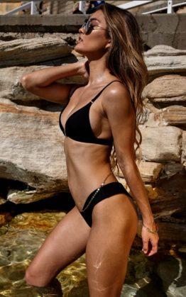 Sedona Bikini Top In Black & Low Down Bikini Bottom In Black