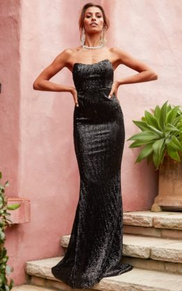 I Feel It Coming Maxi Dress in Black