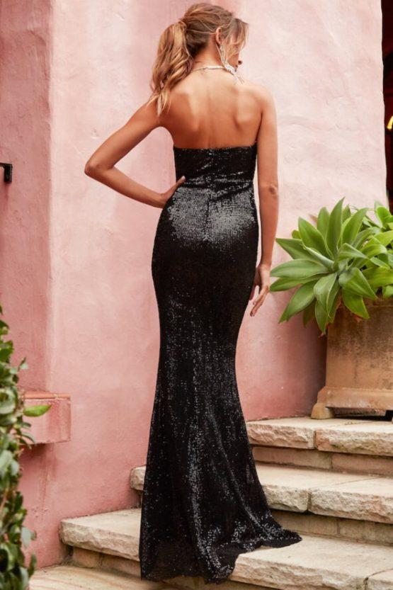 I Feel It Coming Maxi Dress in Black