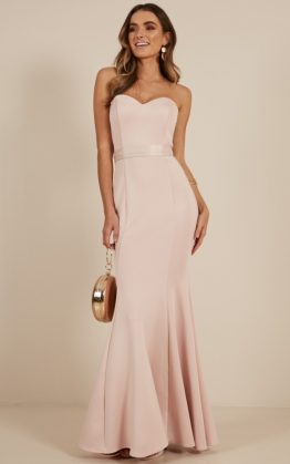 Lasting Moment Maxi Dress In Blush