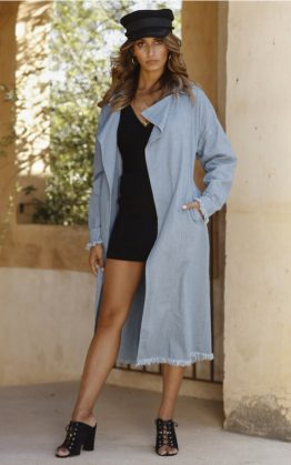 Tookes Trench Coat in Chambray