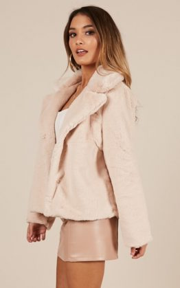 Cold Again Jacket In Blush