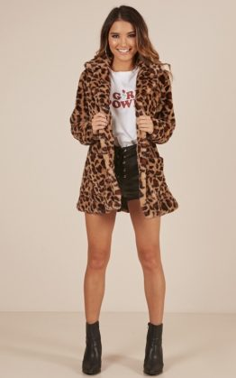 Thats The Trouble Coat In Leopard Print