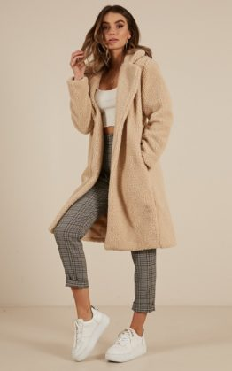 Impressionist Jacket In Beige Teddy