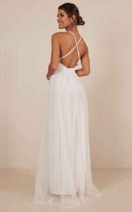 Celebrate Tonight Maxi Dress in White