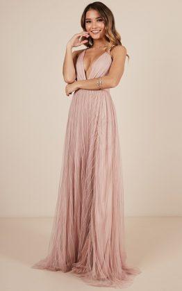 Teen Hearts Maxi Dress In Blush