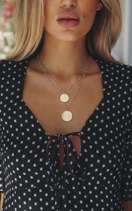 Lost In The Fire Necklace in Gold