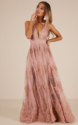 Promenade Maxi Dress In Blush