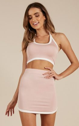 Keeping Count Two Piece Set In Blush
