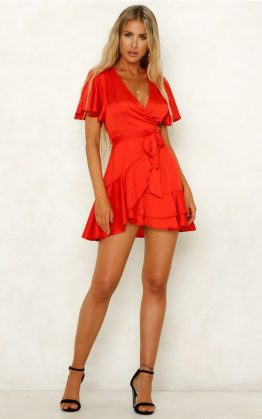 So Yesterday Dress in Red