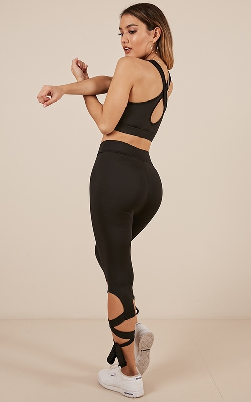 Got The Moves Crop Top In Black & Born To Dance Tights In Black