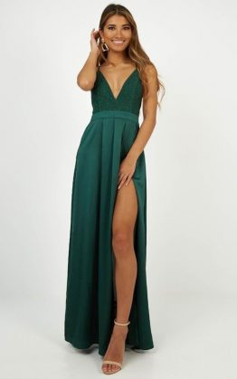 Inspired Tribe Maxi Dress In Emerald