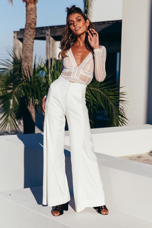 Duckworth Bodysuit in White
