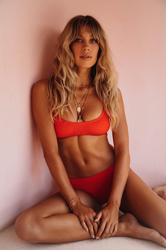 Bayside Swim Top in Red