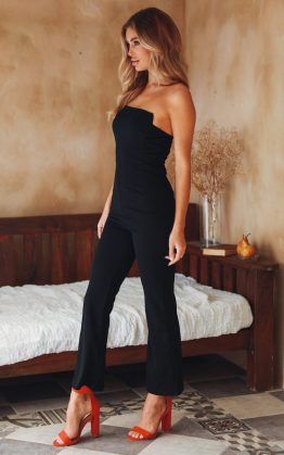 Play For It Jumpsuit in Black